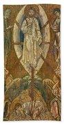 Byzantine Icon Depicting The Transfiguration Beach Towel