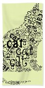 C Is For Cat Beach Towel