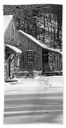 Cabin Fever In Black And White Beach Towel