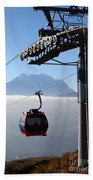 Cable Car Above The Andes Beach Towel