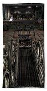 Cable Car Barn In San Francisco Beach Towel by RicardMN Photography