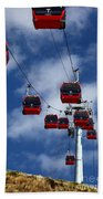 Red Line Cable Car Gondolas Bolivia Beach Towel