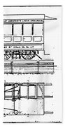 Cable Car Patent, 1873 Beach Towel
