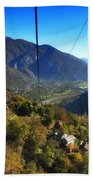 Cableway Over The Mountain Beach Towel