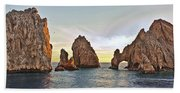 Cabo San Lucas Arch Sunset Beach Towel