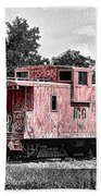 Caboose At Rest Beach Towel