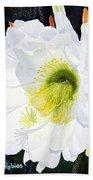 Cactus Flower II Beach Towel