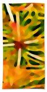 Cactus Pattern 3 Yellow Beach Towel by Amy Vangsgard