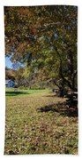 Cades Cove House And Fall Colors Beach Towel