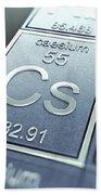 Caesium Chemical Element Beach Towel