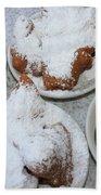 Cafe Au Lait And Beignets Beach Towel by Carol Groenen