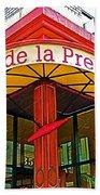 Cafe De La Presse In San Francisco-california  Beach Towel