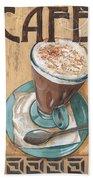 Cafe Nouveau 1 Beach Towel by Debbie DeWitt