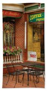 Cafe - The Best Ice Cream In Lancaster Beach Towel by Mike Savad