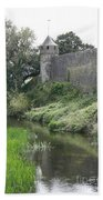 Cahir Castle Wall And River Suir Beach Towel