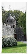 Cahir Castle Wall And Tower Beach Towel