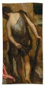 Cain As A Fugitive With His Family Beach Towel