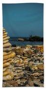 Cairn On Lake Michigan Beach Towel