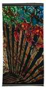 Cajun Accordian - Bordered Beach Towel
