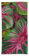 Caladiums Beach Towel
