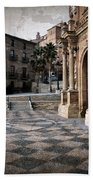 Calahorra Cathedral And Palace Beach Towel