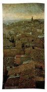 Calahorra Roofs From The Bell Tower Of Saint Andrew Church Beach Towel