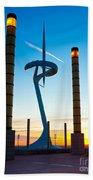 Calatrava Tower - Barcelona Beach Towel