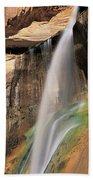 Calf Creek Falls Ut Usa Beach Towel