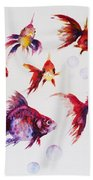 Calico Ryukin Goldfish Beach Towel