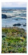 California Central Coast Near San Simeon Beach Towel