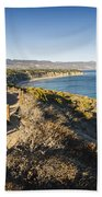 California Coastline From Point Dume Beach Towel