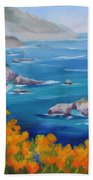 California Poppies Big Sur Beach Towel