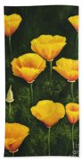 California Poppy Beach Towel by Veikko Suikkanen