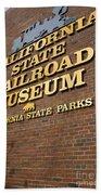 California State Railroad Museum Beach Towel