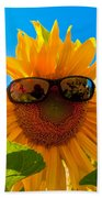 California Sunflower Beach Towel by Bill Gallagher