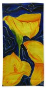 Calla Lilies Beach Towel