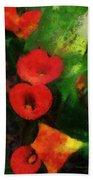 Calla Lilies Photo Art 03 Beach Towel by Thomas Woolworth