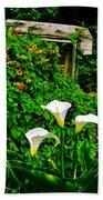 Calla Lilies Vertical Beach Towel