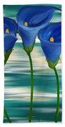 Calla Trio- Calla Lily Paintings Beach Towel
