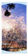 Calm December Sunset Beach Towel