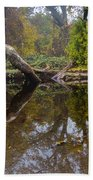 Calm On Big Chico Creek Beach Towel