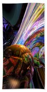 Calming Madness Abstract Beach Towel