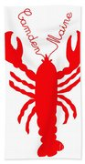 Camden Maine Lobster With Feelers 20150207 Beach Towel