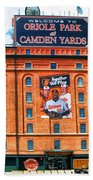 Camden Yards Beach Towel