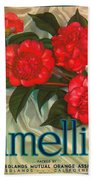 Camellia Crate Label Beach Towel