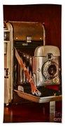 Camera - Vintage Polaroid Land Camera 80 Beach Towel