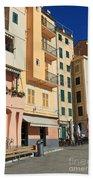 Camogli - Homes And Promenade Beach Towel
