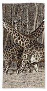 Camouflaged X Sepia Beach Towel