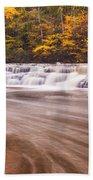 Campbell Falls In Autumn Beach Towel