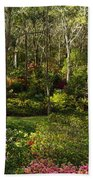 Campbell Rhododendron Gardens 2am 6831-6832 Panorama Beach Towel